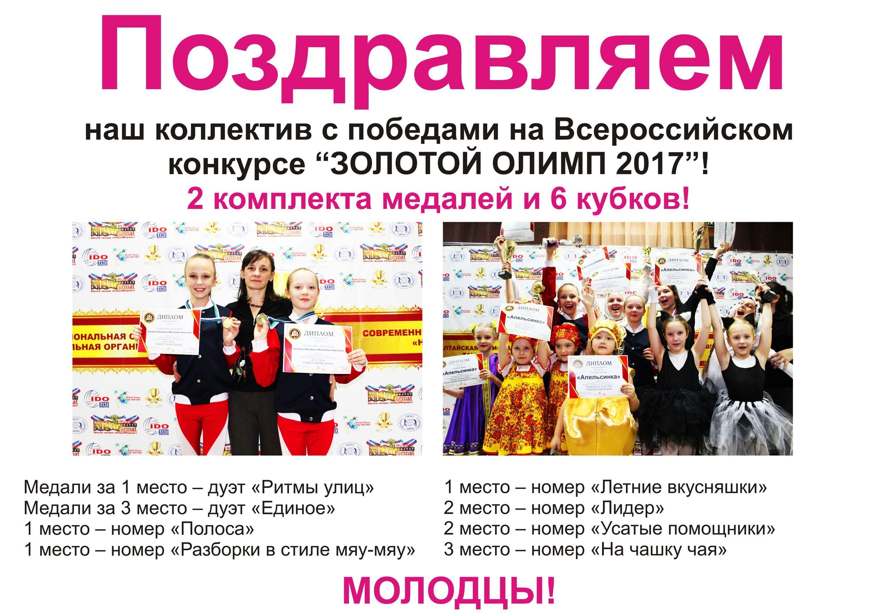 Поздравление коллектива с победой в соревнованиях
